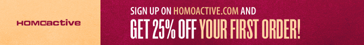 Homoactive.com New Customer 25% Discount